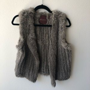 Super chic fur vest!